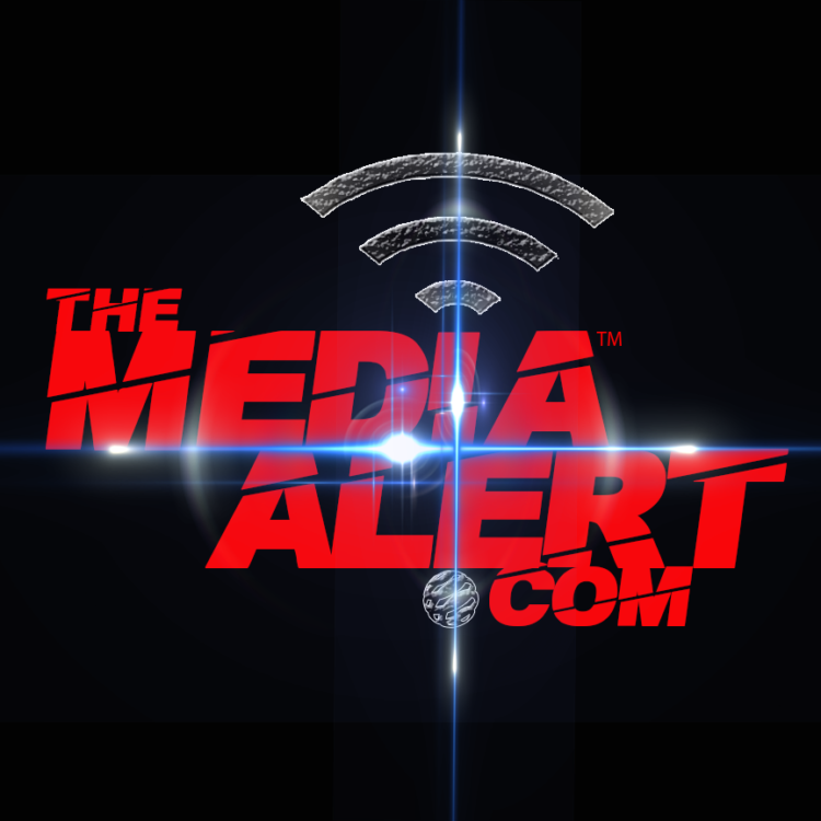 The Media Alert logo blk back